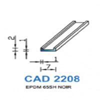 CAD2208N Profil EPDM   65 SH Noir