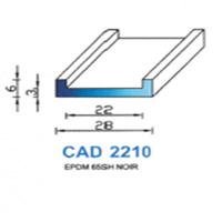 CAD2210N Profil EPDM   65 SH Noir