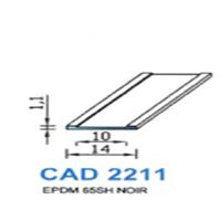 CAD2211N Profil EPDM   65 SH Noir
