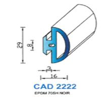 CAD2222N Profil EPDM   70 SH Noir