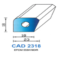 CAD2318N Profil EPDM   55 SH Noir