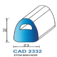 CAD2332N Profil EPDM <br /> 60 SH Noir<br />