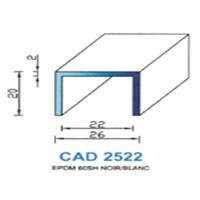 CAD2522B Profil EPDM   60 SH Blanc