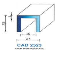 CAD2523N Profil EPDM   65 SH Noir