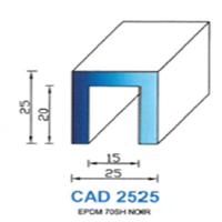 CAD2525N Profil EPDM   70 SH Noir