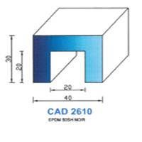 CAD2610N Profil EPDM   50 SH Noir