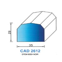 CAD2612N Profil EPDM   60 SH Noir