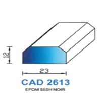 CAD2613N Profil EPDM   55 SH Noir