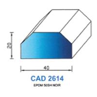 CAD2614N Profil EPDM   50 SH Noir
