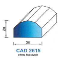 CAD2615N Profil EPDM   50 SH Noir