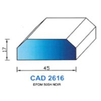 CAD2616N Profil EPDM   50 SH Noir