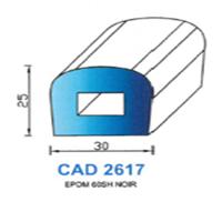 CAD2617N Profil EPDM   60 SH Noir