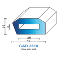 CAD2618N Profil EPDM   60 SH Noir
