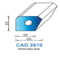 CAD2619N Profil EPDM   55 SH Noir