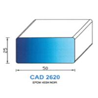 CAD2620N Profil EPDM   45 SH Noir