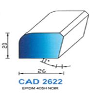 CAD2622N Profil EPDM   40 SH Noir