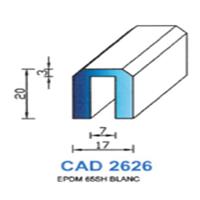 CAD2626B Profil EPDM   65 SH Blanc