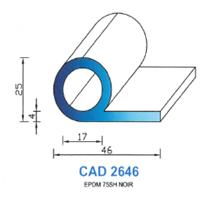 CAD2646N Profil EPDM   75 SH Noir