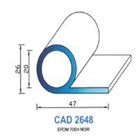CAD2648N Profil EPDM   70 SH Noir