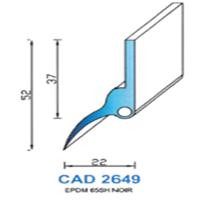 CAD2649N Profil EPDM   65 SH Noir