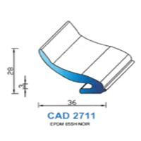 CAD2711N Profil EPDM   65 SH Noir