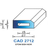 CAD2712N Profil EPDM   50 SH Noir