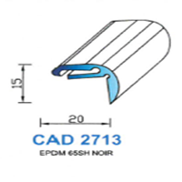 CAD2713N Profil EPDM <br /> 65 SH Noir<br />