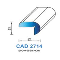 CAD2714N Profil EPDM <br /> 65 SH Noir<br />