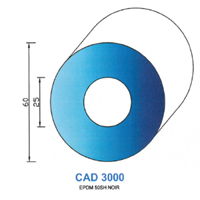 CAD3000N Profil EPDM   50 SH Noir
