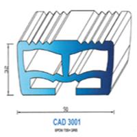 CAD3001G Profil EPDM   70 SH Gris
