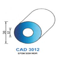 CAD3012N Profil EPDM   50 SH Noir
