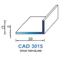 CAD3015B Profil EPDM   70 SH Blanc