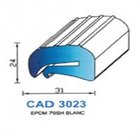 CAD3023B Profil EPDM   70 SH Blanc