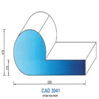 CAD3041N Profil EPDM   70 SH Noir