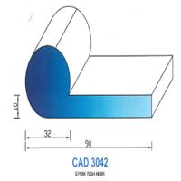 CAD3042N Profil EPDM   70 SH Noir
