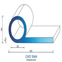 CAD3044N Profil EPDM   65 SH Noir