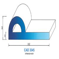 CAD3045N Profil EPDM   60 SH Noir