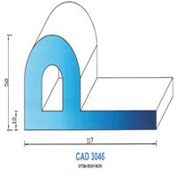 CAD3046N Profil EPDM   65 SH Noir