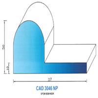 CAD3046NP Profil EPDM   65 SH Noir Plein