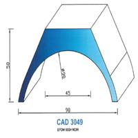 CAD3049N Profil EPDM   65 SH Noir