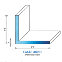 CAD3089N Profil EPDM   70 SH Noir