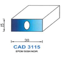 CAD3115N Profil EPDM   50 SH Noir