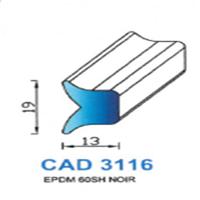 CAD3116N Profil EPDM   60 SH Noir