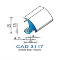 CAD3117N Profil EPDM   65 SH Noir