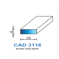 CAD3118N Profil EPDM   70 SH Noir