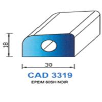 CAD3319N Profil EPDM   60 SH Noir