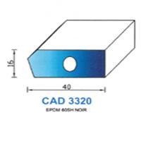 CAD3320N Profil EPDM   60 SH Noir