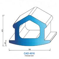 CAD4016N Profil EPDM   65 SH Noir