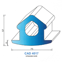 CAD4017N Profil EPDM   65 SH Noir
