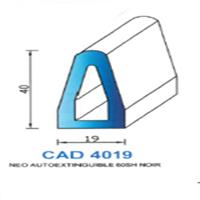 CAD4019N Profil NEO   Auto Extinguible   60 SH Noir